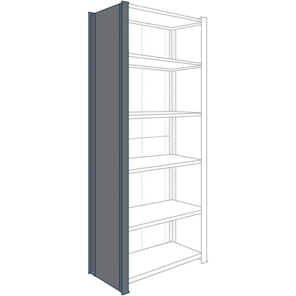 8000 Series Closed Shelving Uprights and Back Panels