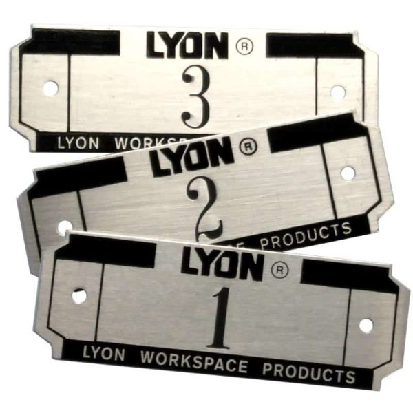 Lyon Locker Number Plates 5829