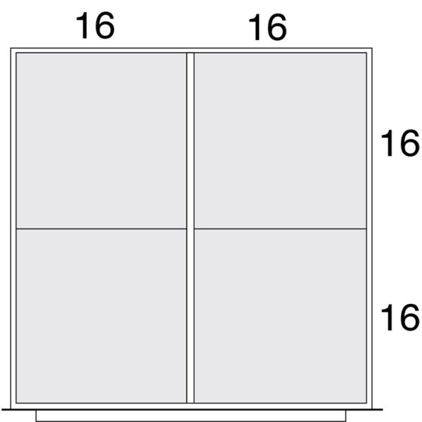 Lyon Modular Drawer Cabinet Standard Layout Kit NF0B0453030