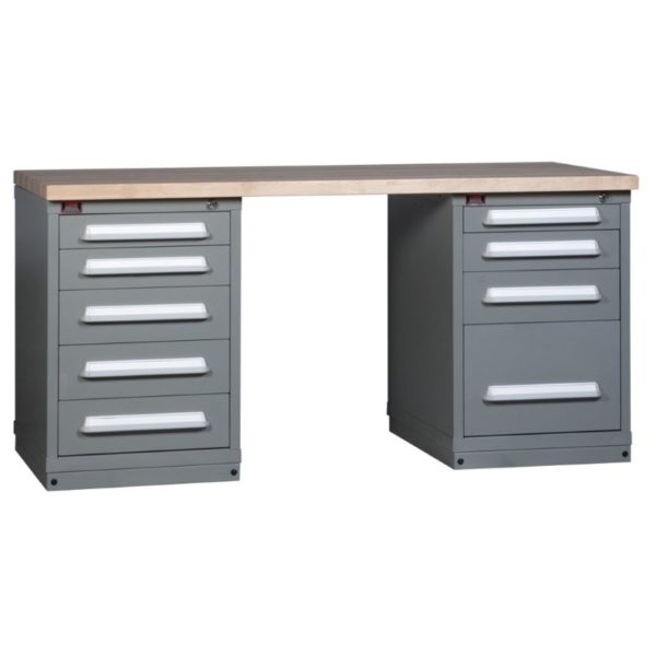 Lyon Modular Drawer Cabinet Concept 3 Two-Cabinet Workbench 251WBC03