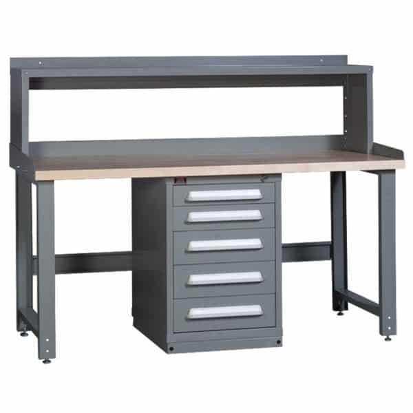 Lyon Modular Drawer Cabinet Concept 6 Center Cabinet Workbench with Riser 251WBC06