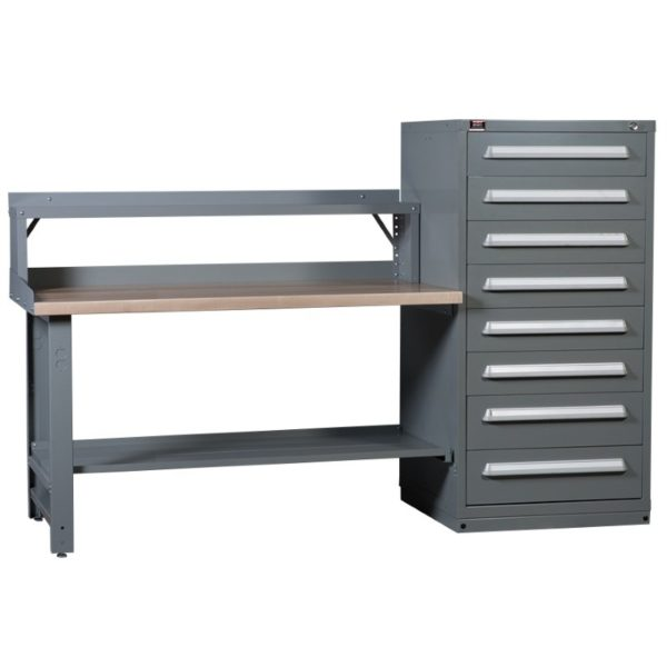 Lyon Modular Drawer Cabinet Concept 8 Standard Hi-Lo Cabinet Workbench with Riser 251WBC08