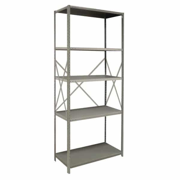 2000 Series Open Steel Shelving with Angle Posts