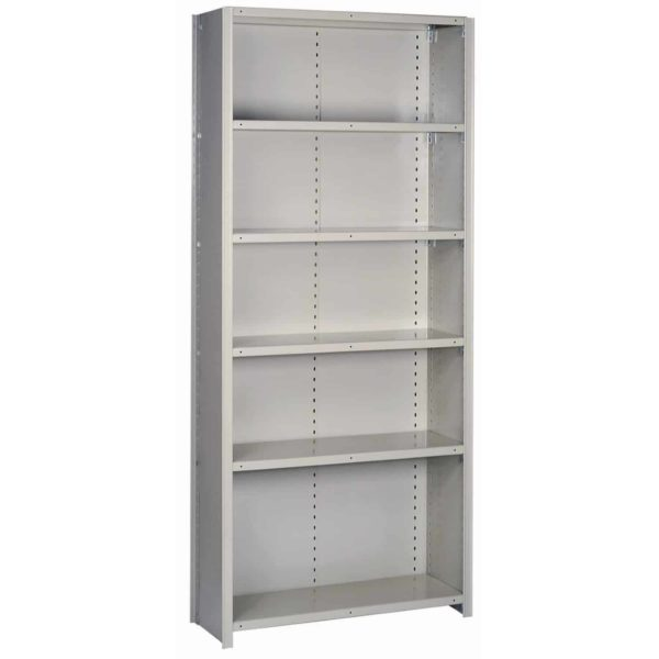 lyon 8000 series 36 inch wide 6 shelf closed shelving starter