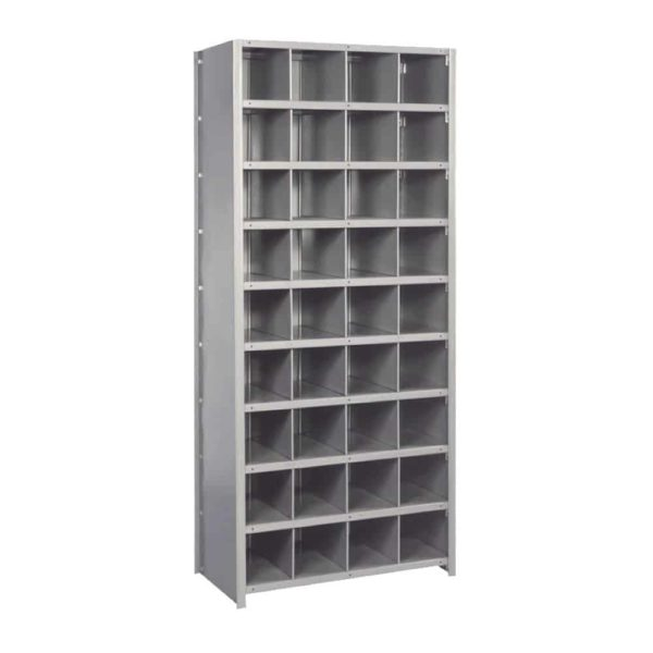 lyon 8000 series 36 inch wide bin shelving 36 compartment starter