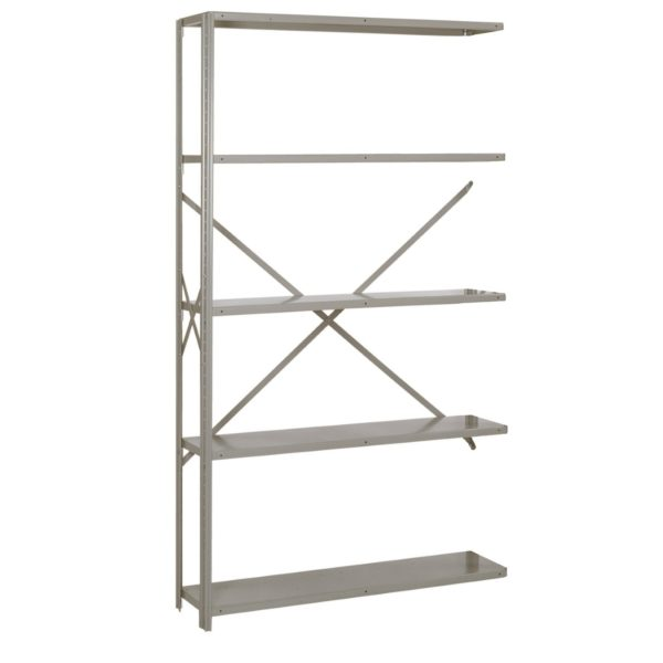 lyon 8000 series 48 inch wide 5 shelf open shelving add-on