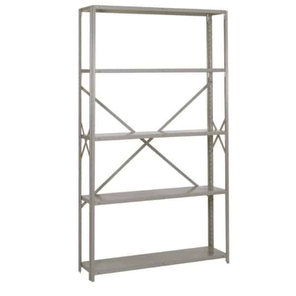 lyon 8000 series 48 inch wide 5 shelf open shelving starter