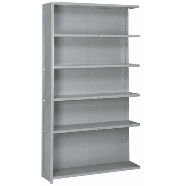 lyon 8000 series 48 inch wide 6 shelf closed shelving add-on