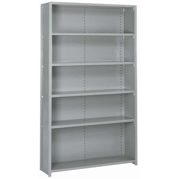 lyon 8000 series 48 inch wide 6 shelf closed shelving starter