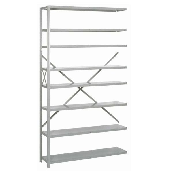 lyon 8000 series 48 inch wide 8 shelf open shelving add-on