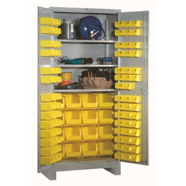 Lyon All-Welded Shelf Bin Cabinet 1156