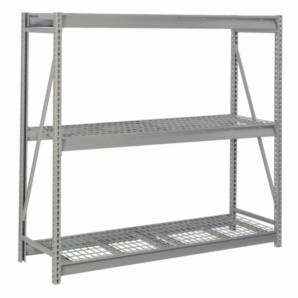 Lyon Bulk Storage Rack with Flat Wire Decking 3 Level Starter