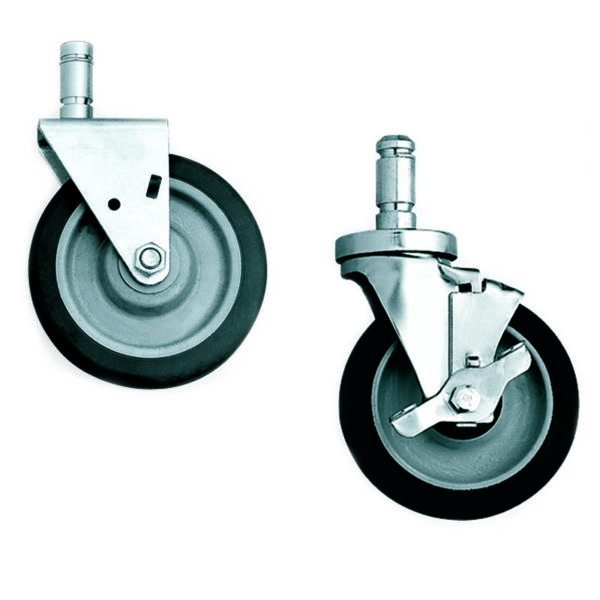 lyon chrome wire shelving caster kit