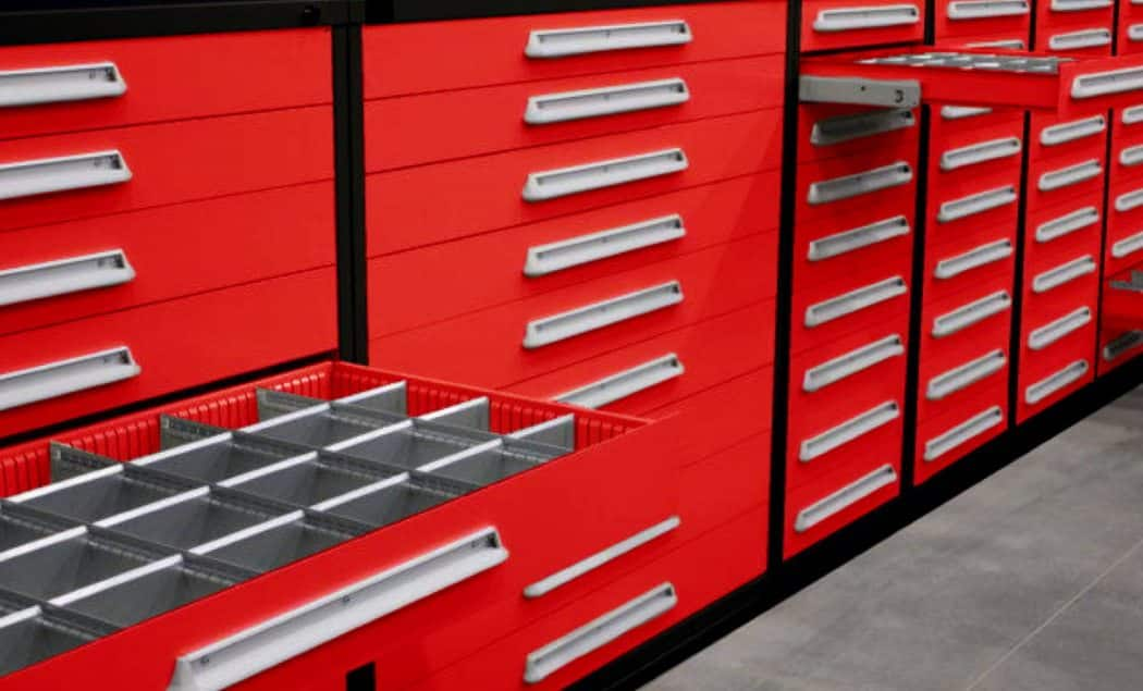 lyon home page image red and black modular drawer cabinets with layout kits