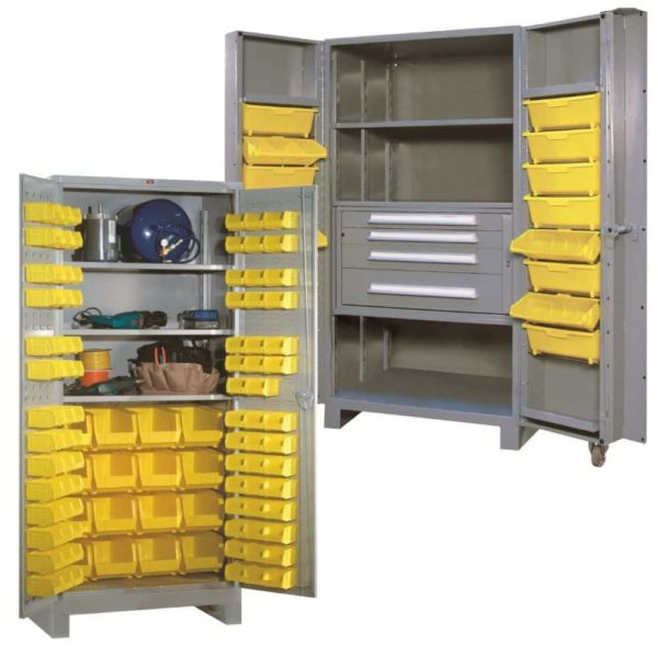Industrial Storage Cabinets with Removable Bins
