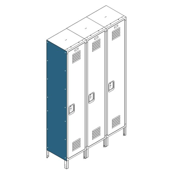 Lyon Locker Accessories End Cover Panel for Flat Top Lockers