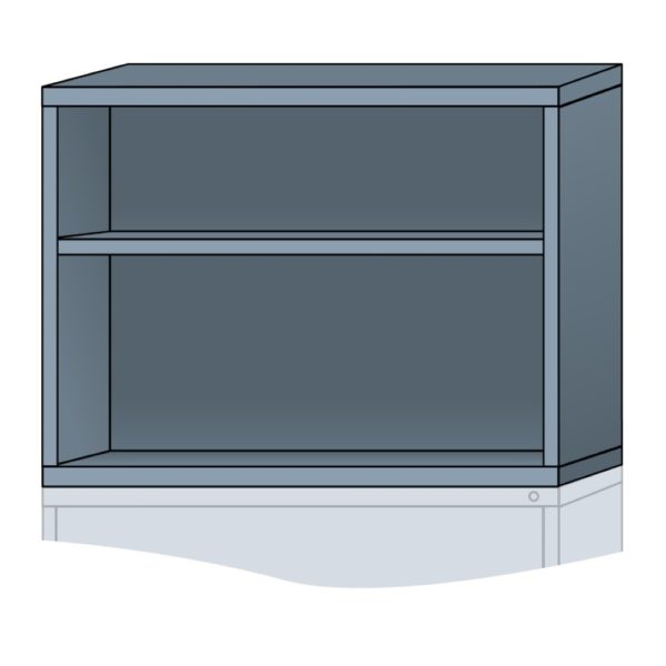 lyon modular cabinet open overhead unit extra wide 31 inch height N35453010500N