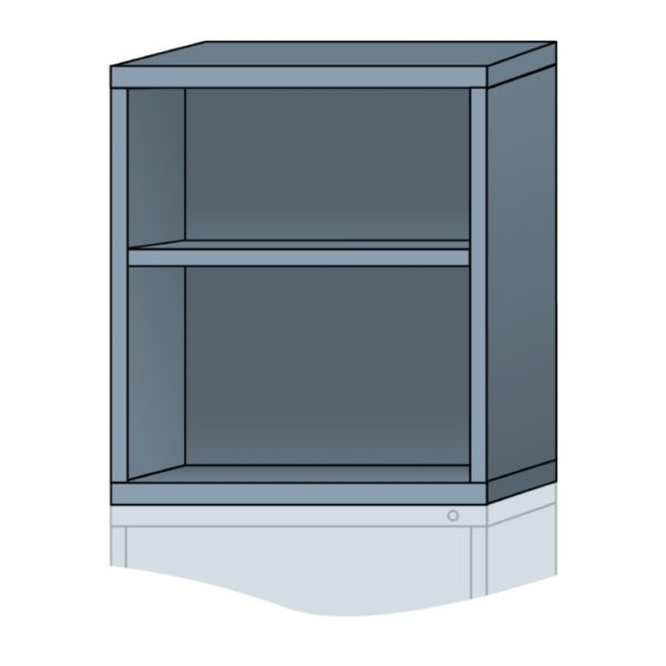 lyon modular cabinet open overhead unit standard wide 31 inch height N35303010500N