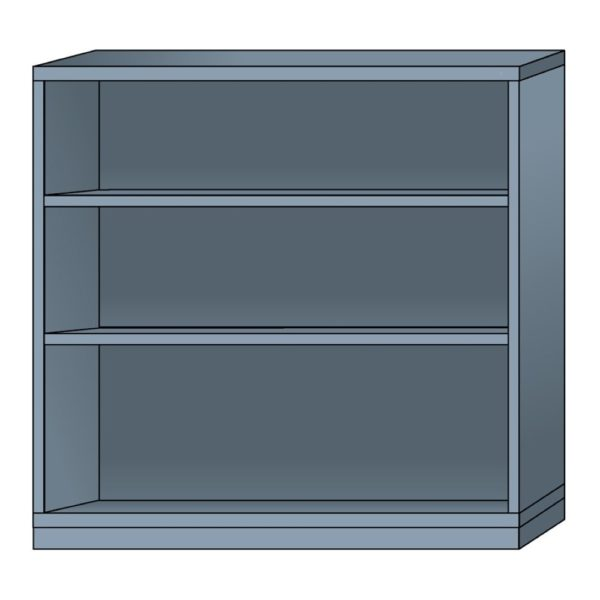 lyon modular cabinet open shelf unit double wide eye-level height N68603010230N