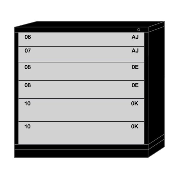 Lyon modular drawer cabinet counter height extra wide 6 drawers 494530000C