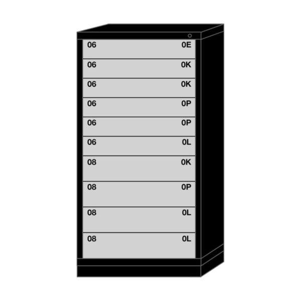 Lyon modular drawer cabinet eye-level height standard wide 10 drawers 6830301009