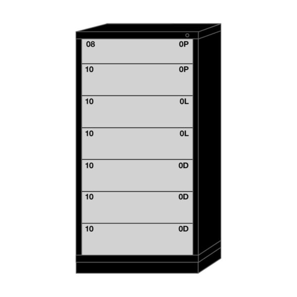Lyon modular drawer cabinet eye-level height standard wide 7 drawers 6830301015