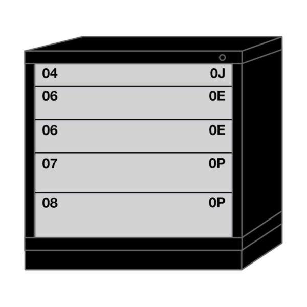 Lyon modular drawer cabinet table height standard wide 5 drawers 313030000B