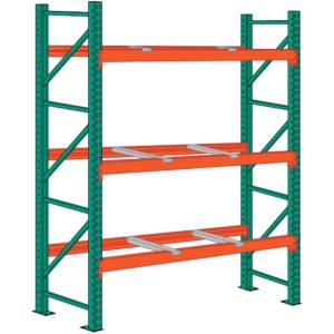 lyon pallet rack 12 foot high 6 front to back supports starter