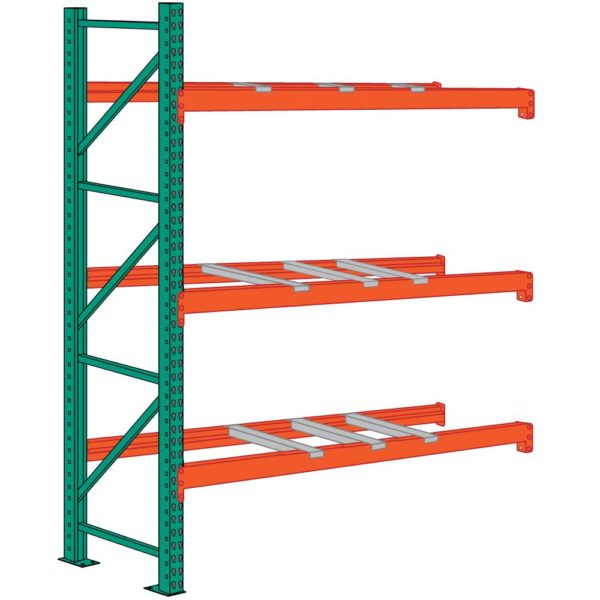 lyon pallet racking 12 foot high 9 front to back supports add on
