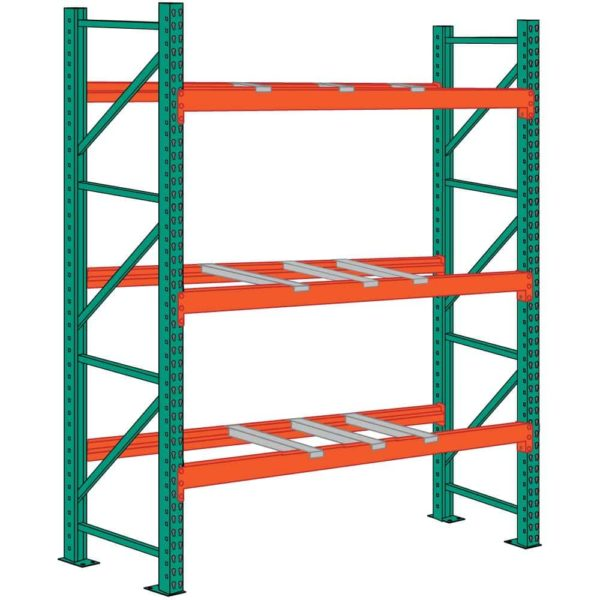 lyon pallet racking 12 foot high 9 front to back supports starter