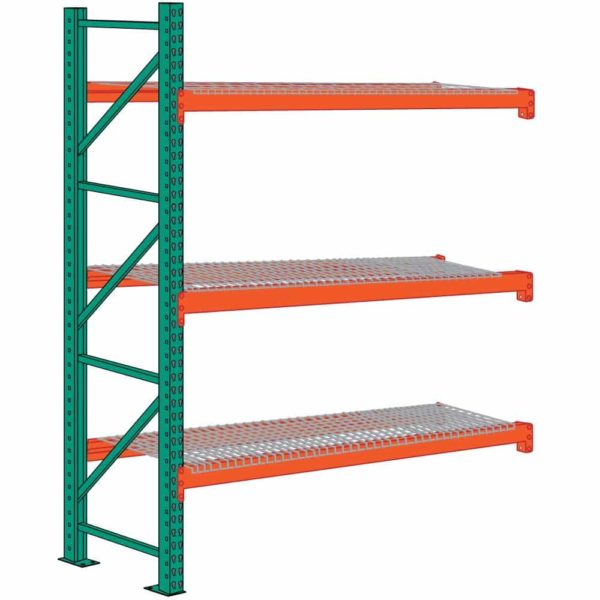 lyon pallet rack 12 foot high wire decking add on