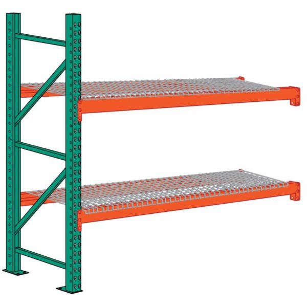 lyon pallet rack 8 foot high wire decking add on