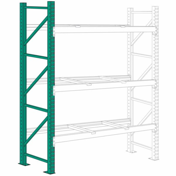 Lyon Pallet Rack Upright Frame 12 ft
