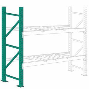 Lyon Pallet Rack Upright Frame 8 ft