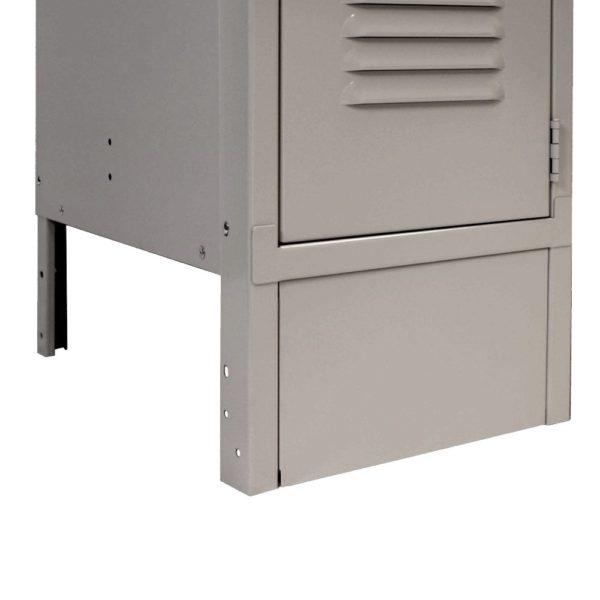 ValTec locker accessories front base dove gray installed